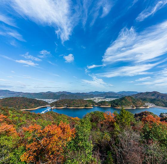 翠明湖からの景色